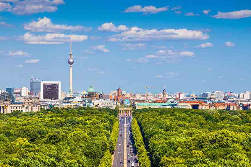 Berlin Tiergarten and TV Tower
